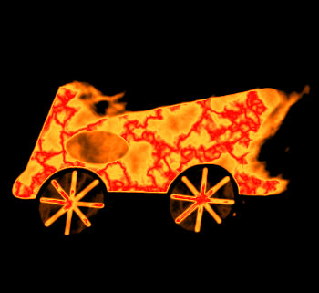 Flaming Car