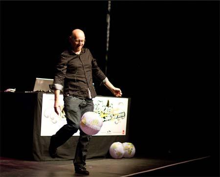 Swingpants distributes his balls