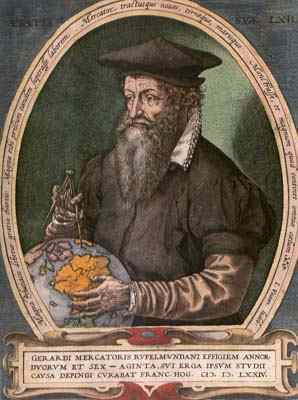 Geographer and cartographer Gerardus Mercator